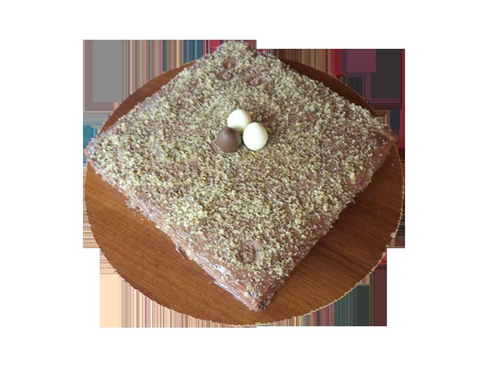 Домашна торта с течен шоколад